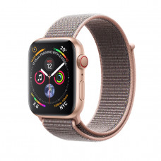 Apple Watch Series 4 (GPS + Cellular) 40mm Gold Aluminium Case with Pink Sand Sport Loop (MTUK2, MTVH2)