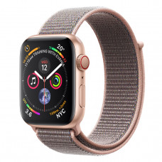 Apple Watch Series 4 (GPS + Cellular) 44mm Gold Aluminium Case with Pink Sand Sport Loop (MTV12, MTVX2)