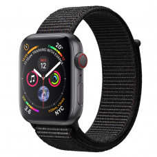 Apple Watch Series 4 (GPS + Cellular) 44mm Space Gray Aluminium Case with Black Sport Loop (MTUX2, MTVV2)