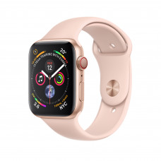 Apple Watch Series 4 (GPS + Cellular) 40mm Gold Aluminum Case with Pink Sand Sport Band (MTUJ2, MTVG2)