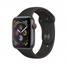 Apple Watch Series 4 (GPS + Cellular) 40mm Space Gray Aluminium Case with Black Sport Band (MTUG2, MTVD2)