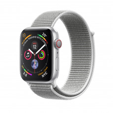 Apple Watch Series 4 (GPS + Cellular) 40mm Silver Aluminium Case with Seashell Sport Loop (MTUF2, MTVC2)