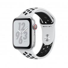 Apple Watch Series 4 Nike+ (GPS + Cellular) 40mm Silver Aluminium Case with Pure Platinum/Black Nike Sport Band (MTV92, MTX62)