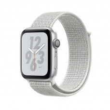 Apple Watch Series 4 Nike+ (GPS) 40mm Silver Aluminium Case with Summit White Nike Sport Loop (MU7F2)