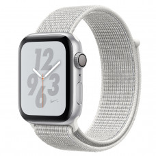 Apple Watch Series 4 Nike+ (GPS) 44mm Silver Aluminium Case with Summit White Nike Sport Loop (MU7H2)