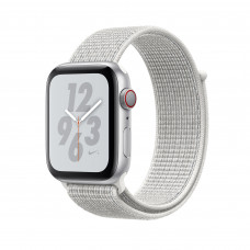 Apple Watch Series 4 Nike+ (GPS + Cellular) 40mm Silver Aluminium Case with Summit White Nike Sport Loop (MTX72, MTXF2)