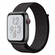 Apple Watch Series 4 Nike+ (GPS + Cellular) 44mm Space Gray Aluminium Case with Black Nike Sport Loop (MTXD2, MTXL2)