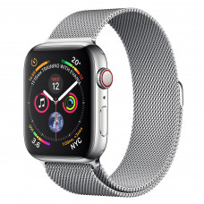 Apple Watch Series 4 (GPS + Cellular) 44mm Stainless Steel Case with Milanese Loop (MTV42, MTX12)