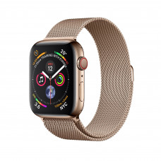 Apple Watch Series 4 (GPS + Cellular) 40mm Gold Stainless Steel Case with Gold Milanese Loop (MTUT2, MTVQ2)