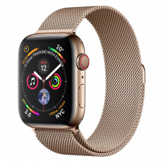 Apple Watch Series 4 (GPS + Cellular) 44mm Gold Stainless Steel Case with Gold Milanese Loop (MTV82, MTX52)