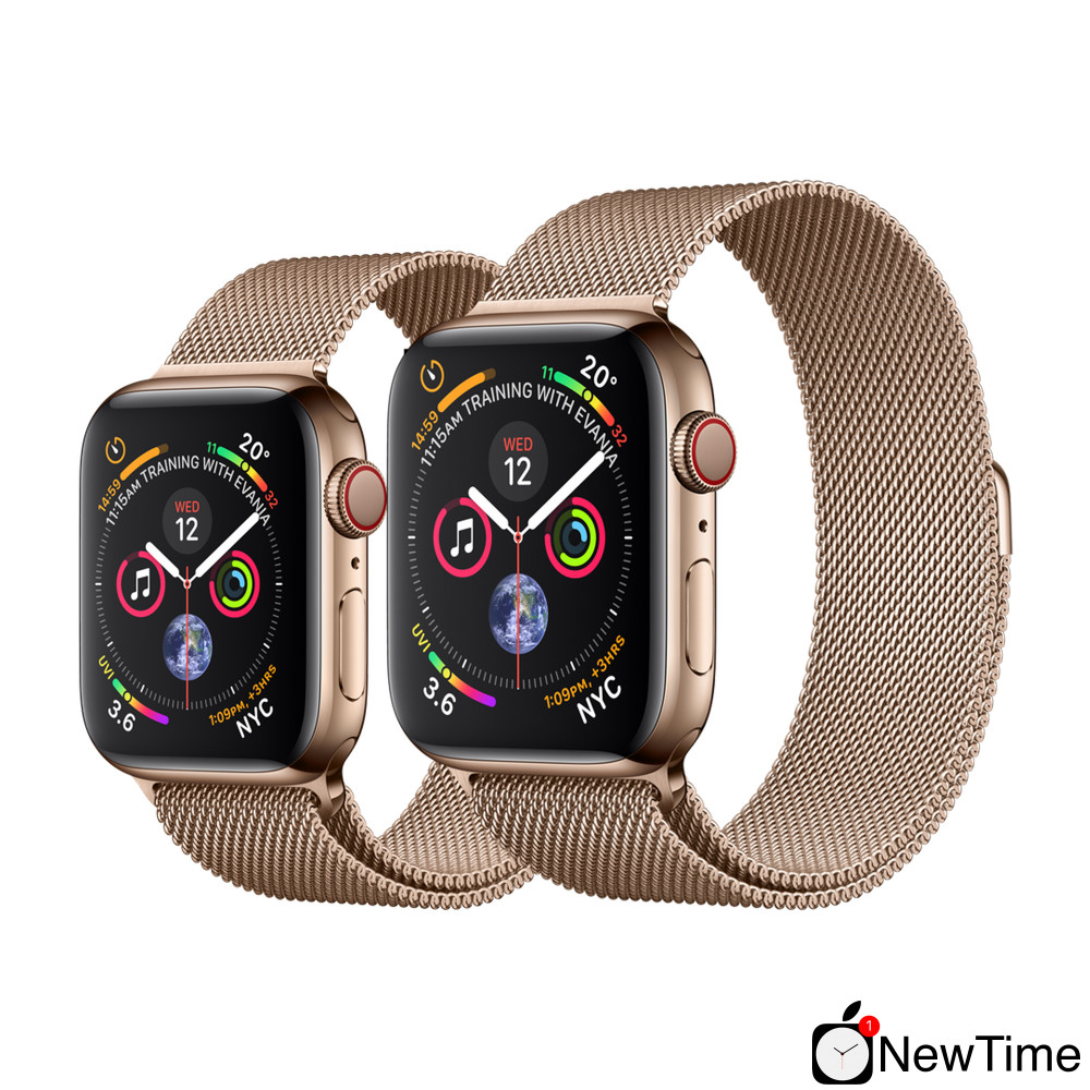 1368da26 ... Apple Watch Series 4 (GPS + Cellular) 40mm Gold Stainless Steel Case  with Gold