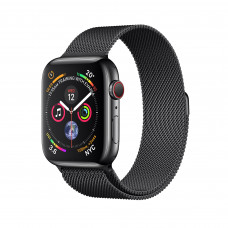 Apple Watch Series 4 (GPS + Cellular) 40mm Space Black Stainless Steel Case with Space Black Milanese Loop (MTUQ2, MTVM2)