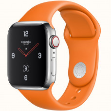 Apple Watch Series 4 Hermès (GPS + Cellular) 44mm Stainless Steel Case with Orange Sport Band (MUH02)