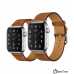 Apple Watch Series 4 Hermès (GPS + Cellular) 44mm Stainless Steel Case with Fauve Barenia Leather Single Tour (MU6V2, MU762)