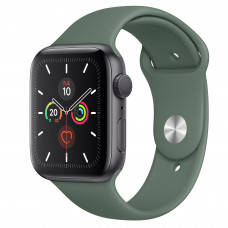 Apple Watch Series 5 GPS 44mm Space Gray Aluminum Case with Pine Green Sport Band (MWT52)