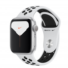 Apple Watch Series 5 Nike GPS 40mm Silver Aluminium Case with Pure Platinum/Black Nike Sport Band (MX3R2/FX3R2) | восстановленные компанией Apple |