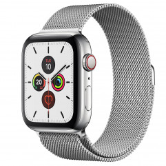 Apple Watch Series 5 GPS + Cellular 44mm Stainless Steel Case with Milanese Loop (MWW32, MWWG2)
