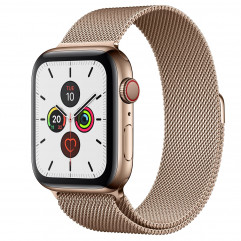 Apple Watch Series 5 GPS + Cellular 44mm Gold Stainless Steel Case with Gold Milanese Loop (MWW62, MWWJ2)
