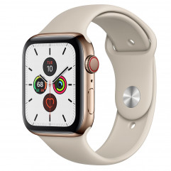 Apple Watch Series 5 GPS + Cellular 44mm Gold Stainless Steel Case with Stone Sport Band (MWW52, MWWH2)