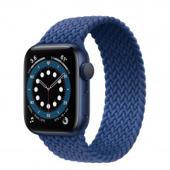 Apple Watch Series 6 GPS 40mm Blue Aluminium Case with Atlantic Blue Braided Solo Loop (MG2A3)