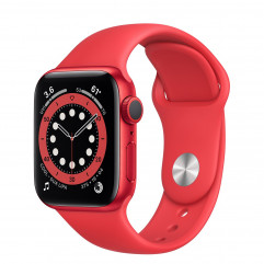 Apple Watch Series 6 GPS 40mm (PRODUCT)RED Aluminum Case with (PRODUCT)RED Sport Band (M00A3)