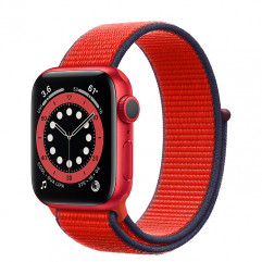 Apple Watch Series 6 GPS 40mm (PRODUCT)RED Aluminum Case (M02C3) with (PRODUCT)RED Sport Loop (MG443)