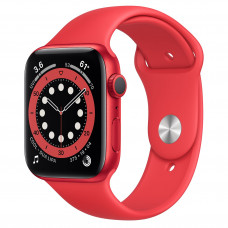 Apple Watch Series 6 GPS 44mm (PRODUCT)RED Aluminum Case with (PRODUCT)RED Sport Band (M00M3)