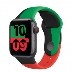 Apple Watch Series 6 GPS + Cellular 40mm Black Unity Aluminum Case with Sport Band (MJ6Q3, MJ6R3)