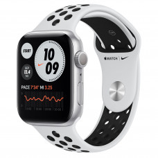 Apple Watch Series 6 Nike GPS 44mm Silver Aluminum Case with Pure Platinum/Black Nike Sport Band (MG293)