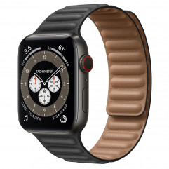 Apple Watch Edition Series 6 GPS + Cellular 44mm Space Black Titanium Case with S/M Black Leather Link + M/L Dark Gray Sport Band (MJ423+MY9M2)